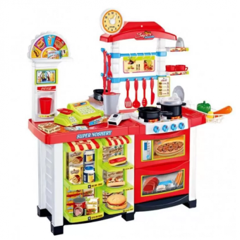 Kitchen Fast Food Multi-functional Kitchen Play Set (Red) Price Philippines