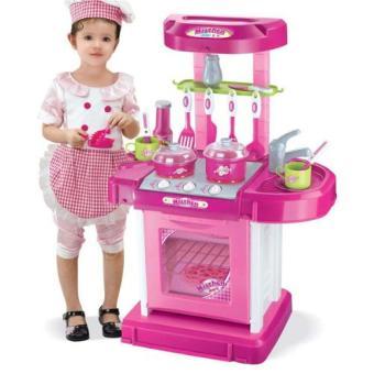 Kitchen set toys pink lazada ph for Kitchen set lazada