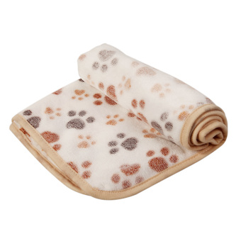 L WARM Pet Blanket Touch Soft Warm Mat Dogs Cat Bed Blanket Mat(White) - INTL