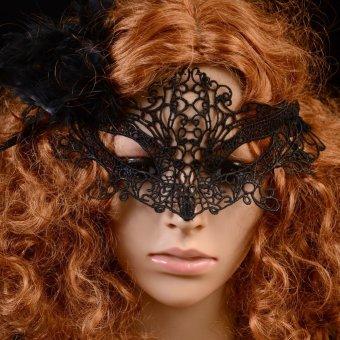 Lace Party Costume Eye Masks Women Eyewear Masquerad for Halloween- INTL - 2