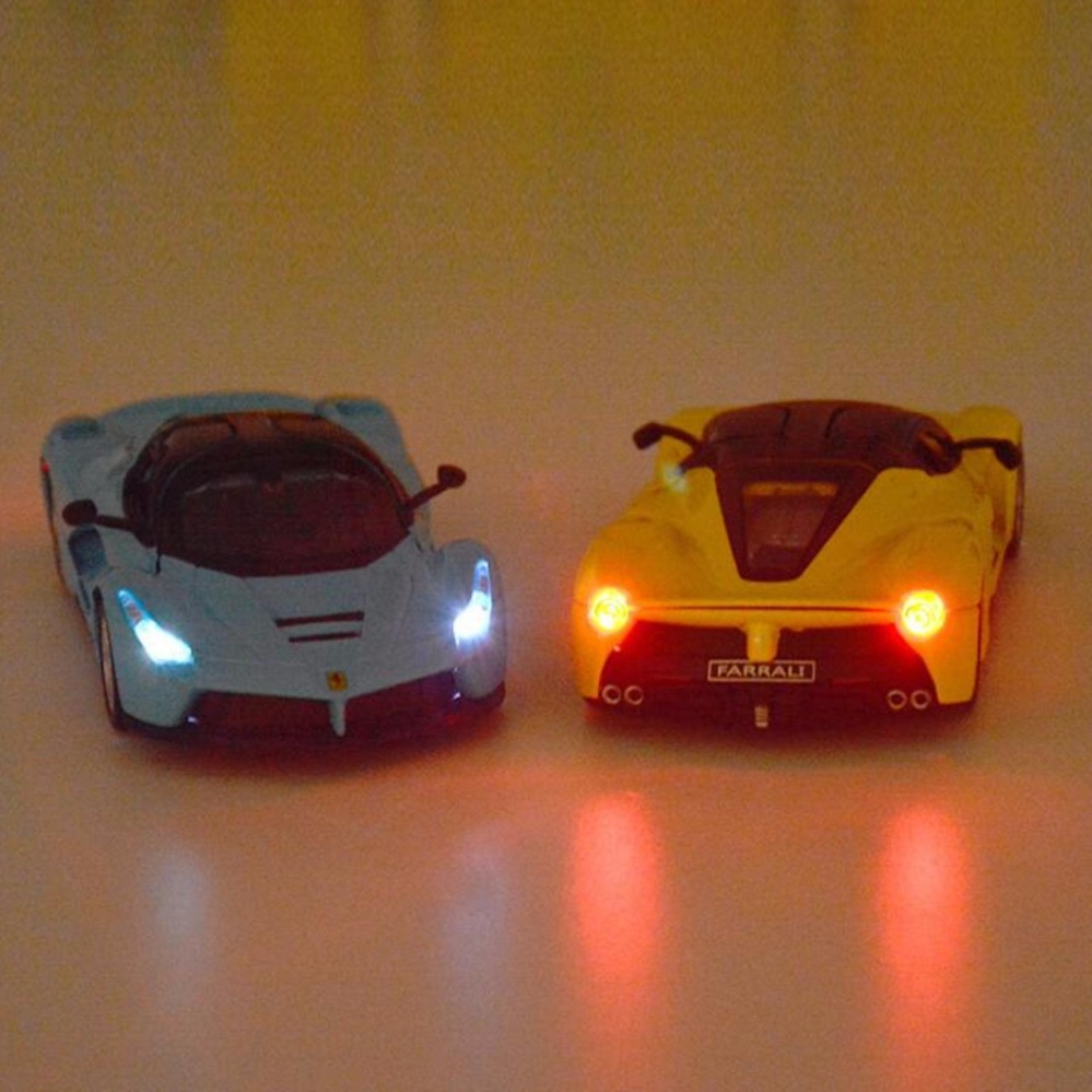 LaFerrari Pull Back Toy Cars 1/32 Scale Alloy Diecast Car ModelKids Toys  Collection ...
