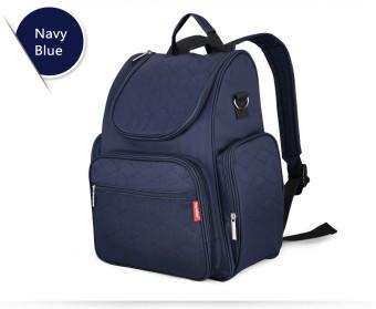 Large Capacity Mummy Bag Backpack Diaper Bags (Navy Blue) - intl - 2