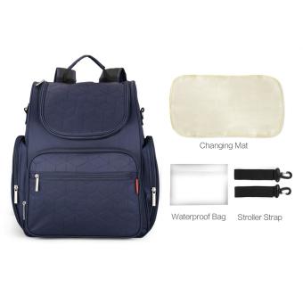Large Capacity Mummy Bag Backpack Diaper Bags (Navy Blue) - intl - 3