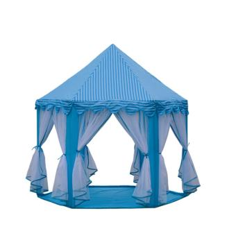 Large Indoor and Outdoor Kids Play House Hexagon Princess CastleKids Play Tent Child Play Tent-light blue Price Philippines