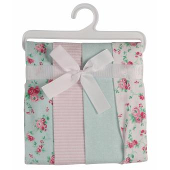 Laura Ashley Baby Receiving Blankets - Pack of 4 - Mint FloralPrint Price Philippines