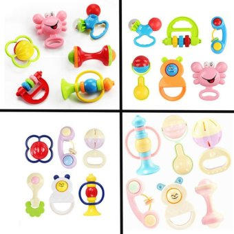 lazada and USA best selling Baby Starts Rattle 6pcsset(Multicolor)Random style
