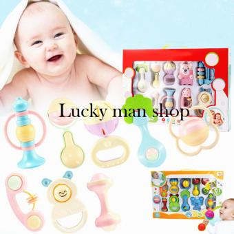 lazada and USA best selling Baby Toy Puzzle Educational RattleTeether Iants(8 Pieces)Random style
