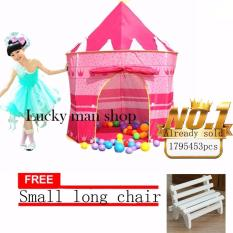 lazada and USA best selling free Small long chair Play Tent CastleCubby House (Pink)  sc 1 th 225 & Philippines | Portable Kids Children Pop Up Play Tent Foldable ...