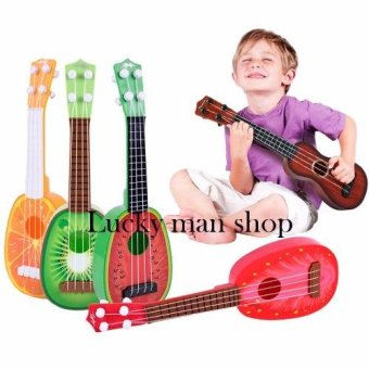 lazada and USA best selling Musical Guitar Toys 4 String AcousticGuitar Toy for Kids Mini Fruit Guitars - 2