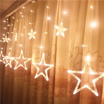 LED lanterns five - pointed star curtain lights sky stars wedding birthday Christmas lights day lights direct sales - intl Price Philippines