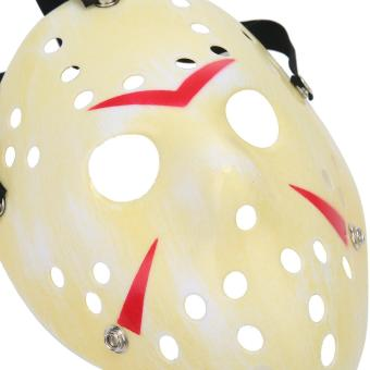 leegoal Thickening Fade Yellow Jason Mask Halloween Custume Ball Party Horror Funny Cosplay Face Mask - intl - 5