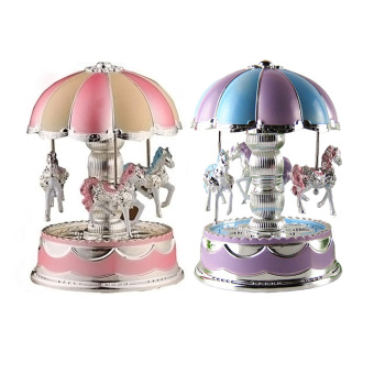 Light Merry-Go-Round Music Box Christmas Birthday Gift Toy Carousel - Intl