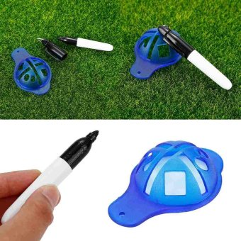 Line Marker Up Putt Positioning System Ball Marker Sharpie Pen andTemplate - intl Price Philippines