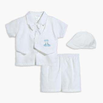 Little Blessings Baby Boys Giraffe Baptismal Set (White) Price Philippines