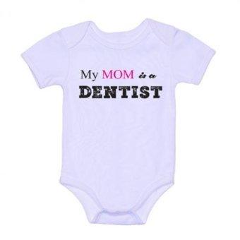 LMC My Mom is a Dentist Onesie (White)