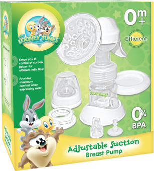 Looney Tunes Adjustable Suction Breast Pump