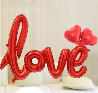 LOVE New style marriage house decorative birthday aluminum balloons
