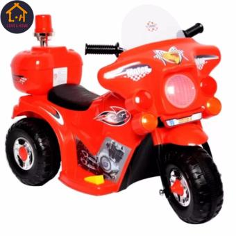 LOVE&HOME Rechargeable Motor Bike Kids Ride-on Toys Police Motorcycle (Red)