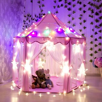 Lovely Girls Pink Princess Castle Children Playhouse Tent OutdoorToys Tent For Kids - intl