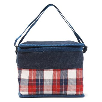 Lunch Bag (Checkered Blue)