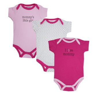 Luvable Friends Newborn Baby Girls Bodysuit 3-Pack, Girl Mommy Price Philippines