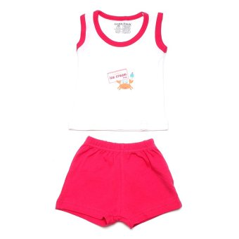 Luvable Friends Tank Top and Short- 2-piece Set (Pink)