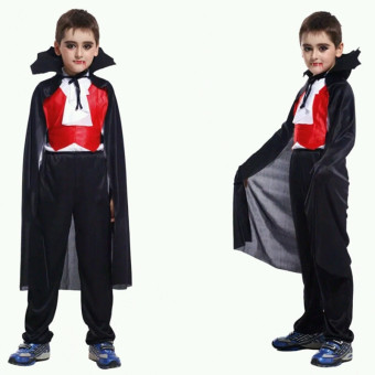 M Halloween Costumes Masquerade Vampire Children Costume Kids BoysCosplay Party Clothing Set (Black)