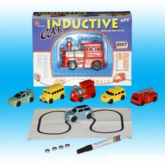 Magic Mini Pen Inductive Toy Vehicles Car Model Follow Any Draw lines Toys For Children Gift - intl