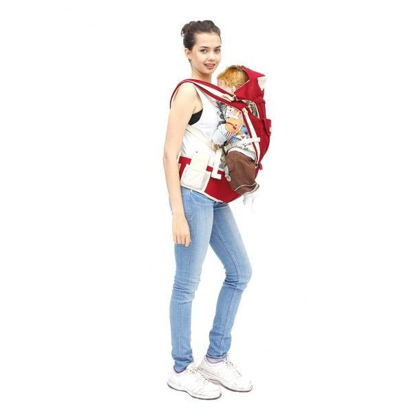 MagiDeal Cotton Baby Carrier Sling Hip Seat Wrap 64-118cm 3-36 Months Wine Red - intl