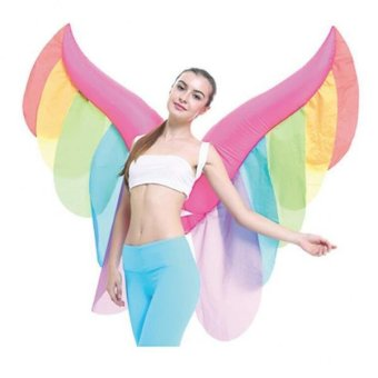 MagiDeal Inflatable Constume Butterfly Wing Adult Fairy Angel Air Blow Up Fancy Dress - intl