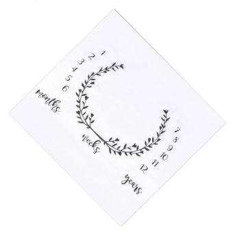 MagiDeal Newborn Baby Letter Milestone Blankets Photography Photo Props 1 - intl