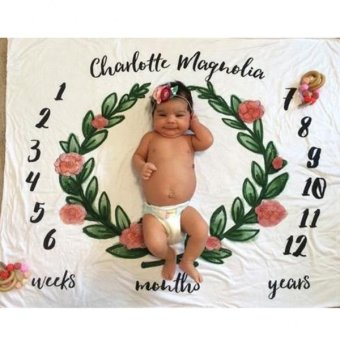 MagiDeal Newborn Baby Monthly Milestone Blanket Photography Prop