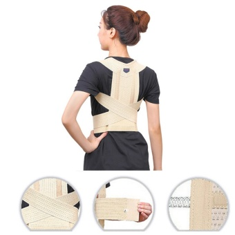 Magnetic Therapy Posture Corrector Body Back Pain Belt Brace Shoulder Support Size M - intl