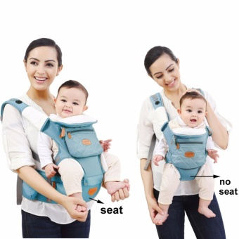 Mambobaby Multifunctional 4-in-1 Baby Carrier with Hip Seat (Blue)