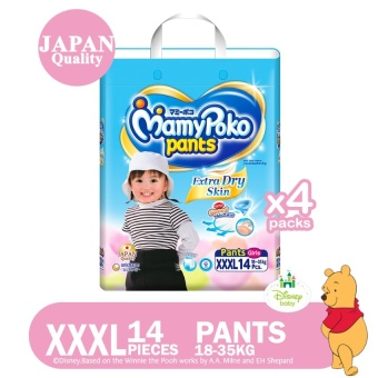 MamyPoko Pants Extra Dry Skin (Girl) XXXL 14's Pack of 4