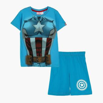 Marvel Avengers Boys Tee and Shorts Set (Blue)