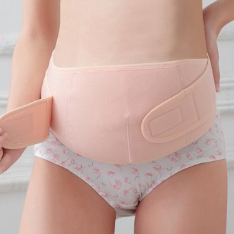 Maternity Back Support Belt Pregnancy Tummy Belly Brace (Nude L) - intl