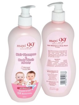 Maxi 99 Hair Shampoo & Body Wash for Baby 500ml - 3