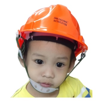 Meisons active kids PARTY hard hat safety helmet ORANGE