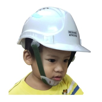 Meisons active kids party hat PE hard hat safety helmet with airflow WHITE