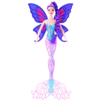Mermaid 3D princess girl's with Barbie doll