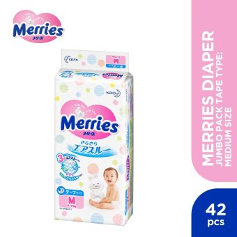 Merries Diaper Jumbo Pack Tape Type Medium (42 pcs)