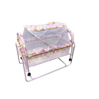 Metal crib and Cradle with Mosquito Net WB521 Pink
