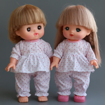 Mi Lu cotton doll clothes accessories polkadot two-piece Sets