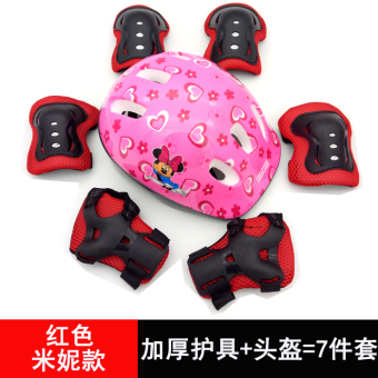 Mickey Mouse skating roller skates skateboard Bicycle knee helmet