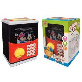 Mini ATM Bank Mickey Piggy Bank Machine With Digital Display ForChildren As Gift Pink Personal Saving Money Box