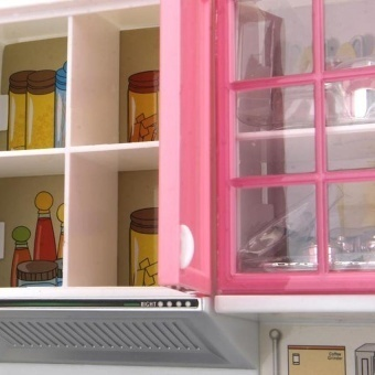 Mini Children's Kitchen Pretend Play Cooking Set Cabinetstove Toy -intl - 4