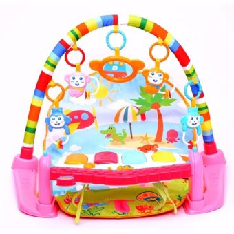 Minitudou Newborn Baby Multifunction Piano Fitness Rack With MusicRattle Infant Activity Play Mat Children Educational Toys