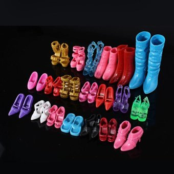 Mix 24pcs/12Pairs Shoes Boots Decor Barbie Doll Girls Play House Gift Color - intl Price Philippines