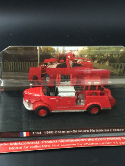 Model alloy fire truck model